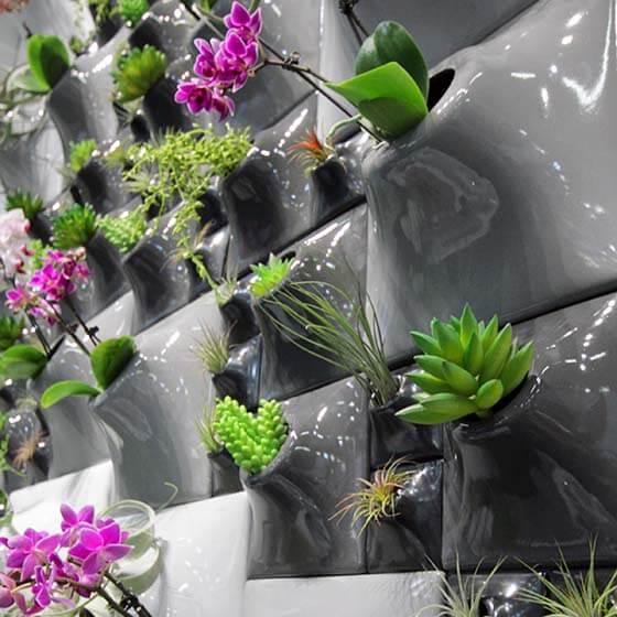 ceramic wallscape planters