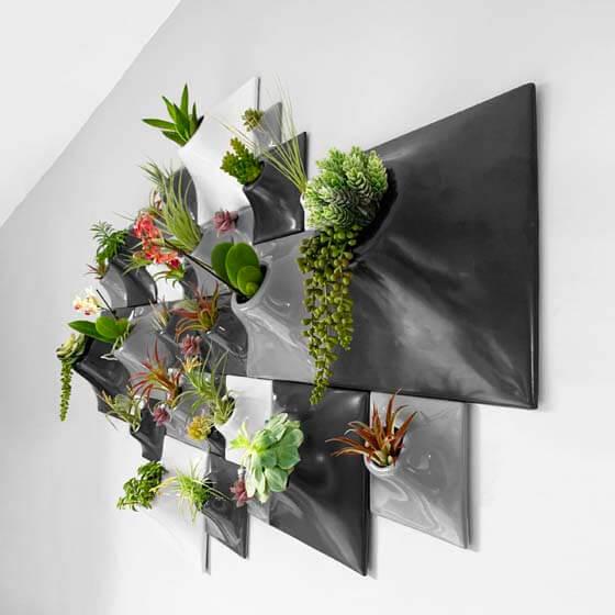 ceramic wallscape planters for green wall