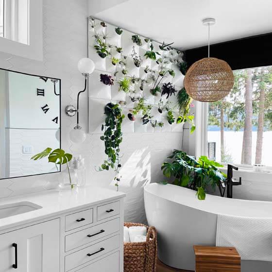 white ceramic wallscape planters