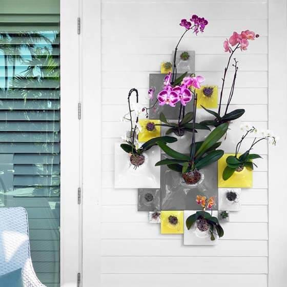 outdoor wallscape planters