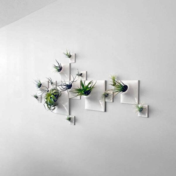 white ceramic wallscape