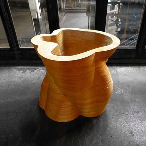 luxury wood side table