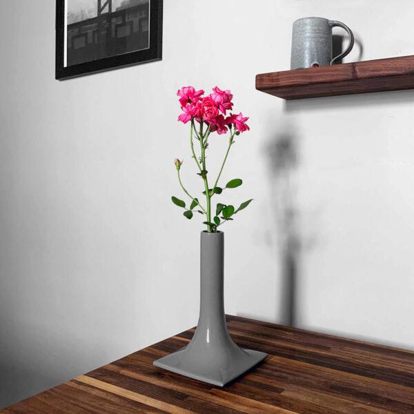medium gray ceramic vase