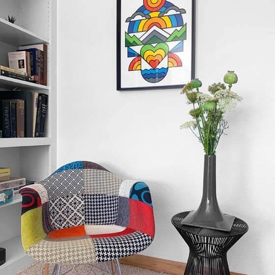 gray decorative flower vase