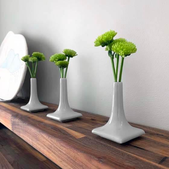 gray ceramic vases