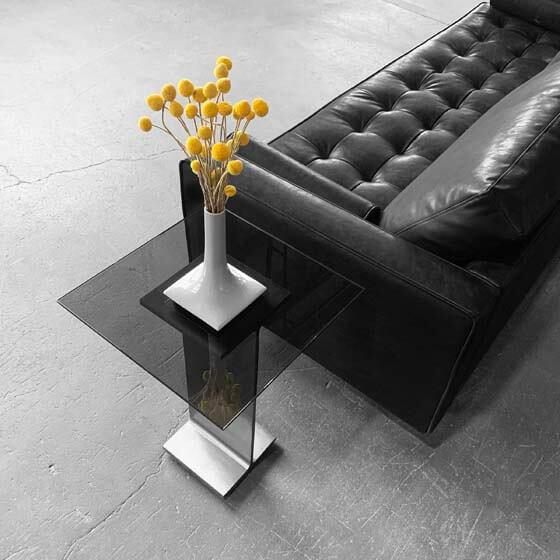 light gray small ceramic vase