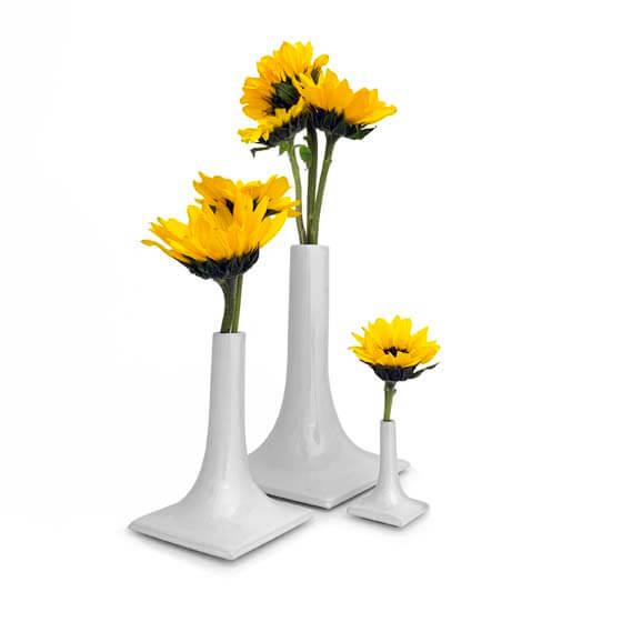 luxury light gray ceramic vase set