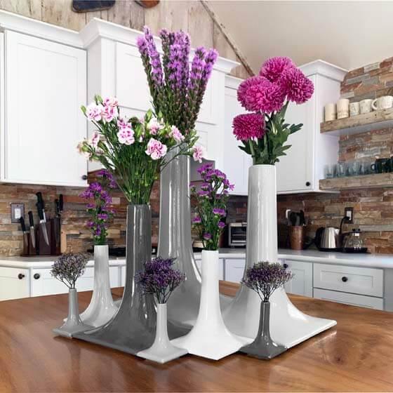 ceramic vase tablescape