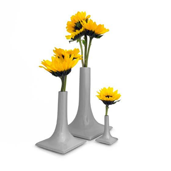 gray luxury ceramic vase set