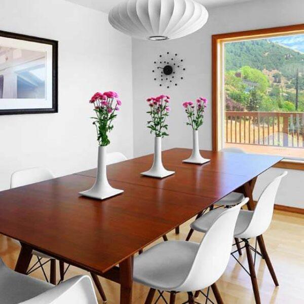 white ceramic decorative table vases