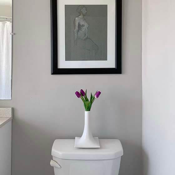 small white ceramic vase