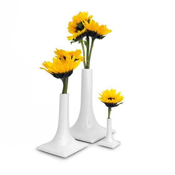 white luxury ceramic vase set