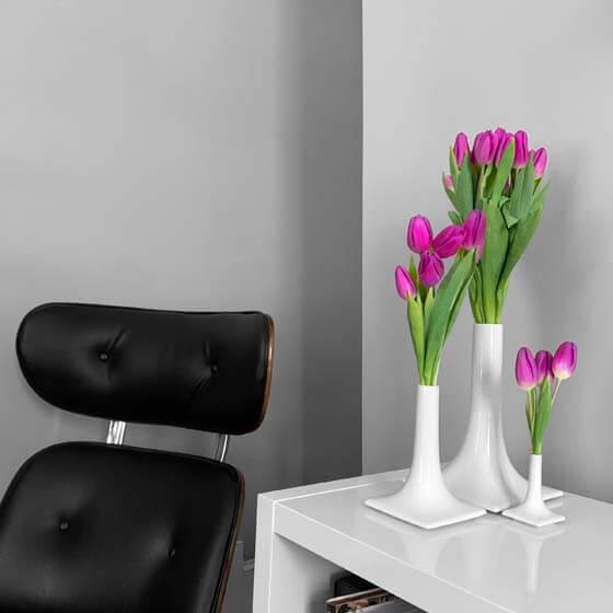 luxury white ceramic vase set