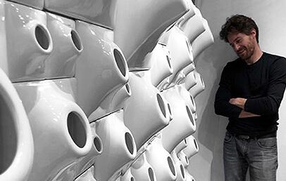 white ceramic wall planter system