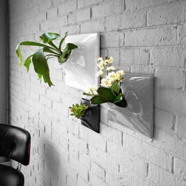 modern ceramic wallscape planters