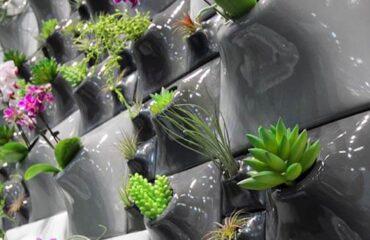ceramic wallscape planters greenwall