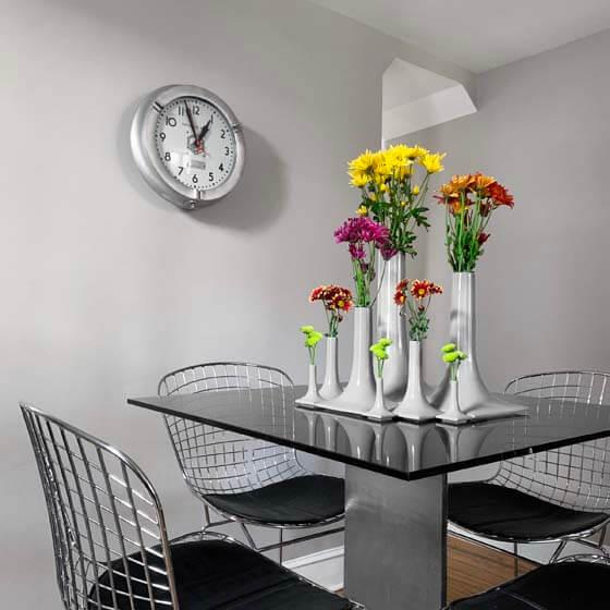 modern ceramic vase set on table